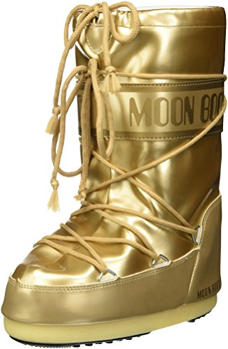 Moon-boot Vinil Met, Chaussures premiers pas pour bébé Mixte Enfant, Or (Oro 003), 31 EU