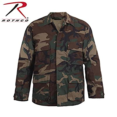 Rothco Camo BDU (Battle Dress Uniform) Military Shirts, Woodland Camo, M