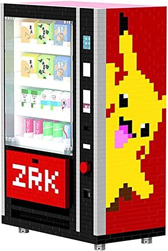 FJJF 2560 Unids Mini Máquina Expendedora Bloques De Construcción Ladrillos Accesorios Ciudad Beber Caja De La Comida Kits Set DIY Juguetes para Niños