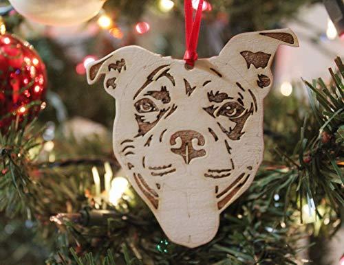 Pit Bull Dog Mom Christmas Ornament Gift For Her, Smiling Bully Dog Lover Gift