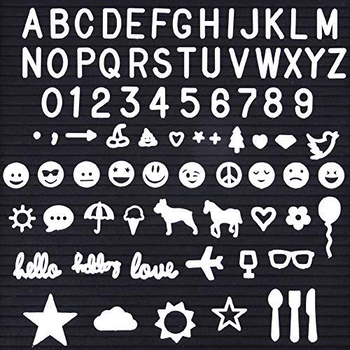 SOLEJAZZ Letter Board Letters 610 Characters Set for Felt Letter Boards, 1 Inch Letters, Including Characters, Numbers, Symbols, Emojis for Felt Letter Board