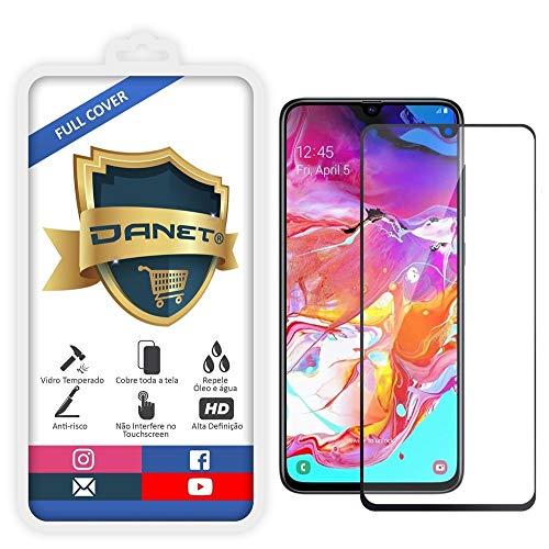 Película De Vidro Temperado 3D Full Cover Para Samsung Galaxy A70 com Tela de 6.7 Polegadas - Proteção Blindada Top Premium Que Cobre Toda A Tela - Danet
