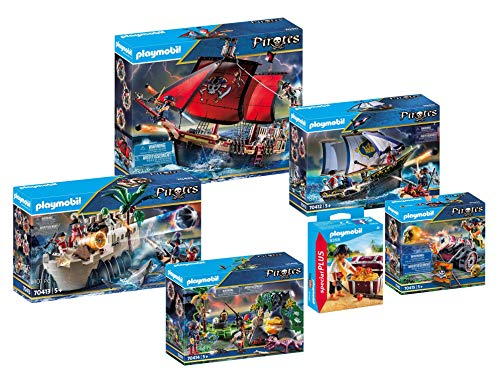 PLAYMOBIL® 6-teiliges Komplettset Piraten 70411 70412 70413 70414 70415 9358, neu, ovp