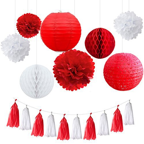 Red And White Decorations Amazon Com