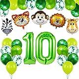 Selva Fiesta de Cumpleaños Decoracion, Años Animal Cumpleaños Globos,Decoraciones Cumpleaños de Fiesta, Decoración de Globos para Fiesta de Cumpleaños,Cumpleaños Decoración (10)