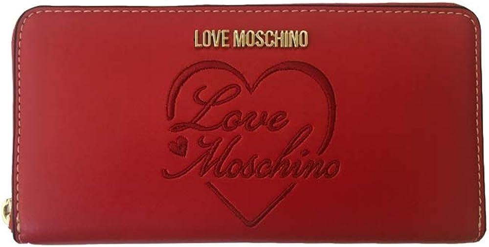 Portafoglio love moschino porta carte di credito in pelle per donna JC5604PP1BLC0500