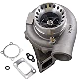 maXpeedingrods GT35 GT3582 GT3582R Universal Turbo Anti-Surge Compressor AR.70/63 600HP, Turbocharger External Wastegate T3 Flange for 2.5L-6.0L Engines Water + Oil Cooled