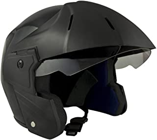 Sage Square Benz Power ISI Certified Open Face Helmet (Black Glossy,Medium)