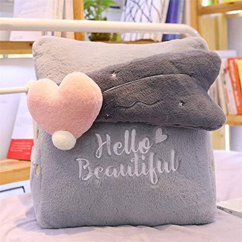EREL 42 * 25 cm grau mit Sofa-Bett Liebeskissen Dekorativer Kissen Natürliche Wende dedu
