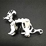 ECLENYES DIY Stainless Steel Puzzle Model Kit Metal Mini Assembly Jigsaw Crafts - Small Corythosaurus