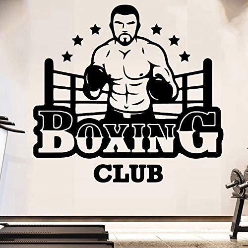 Etiqueta de la pared del club de boxeo vinilo de gimnasio personalizable Banner Fitness Boxeo deportes etiqueta de la pared