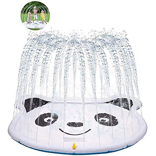 210cm Kinder Sprinkler, Splash Pad und Planschbecken, Hinterhof-Brunnen für 1 bis 12 jährige Mädchen-Jungen, Außen Garten Aktivitäten in der Familie