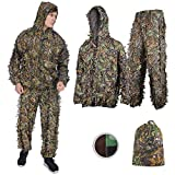 Best Ghillie Suits - SMZCTYI Ghillie Suit 3D Leafy Woodland Camouflage Clothing Review