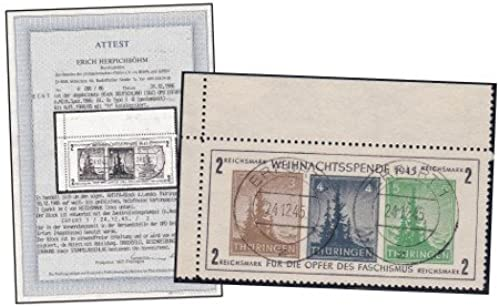 Goldhahn SBZ Block 1x gestempelt mit Fotoattest Herpichb  Briefürken für Sammler