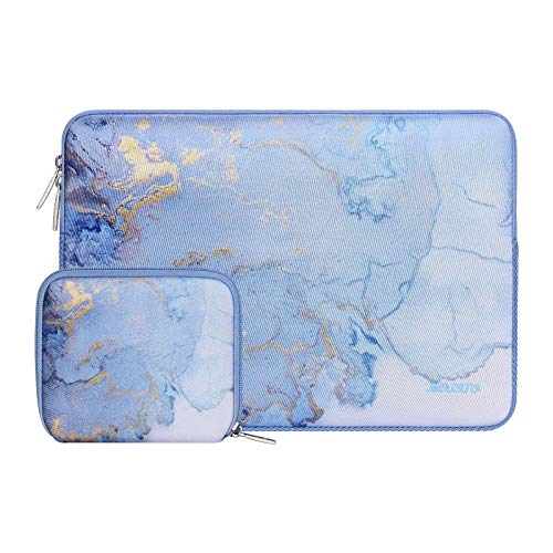 MOSISO Laptop Sleeve Compatible with 13-13.3 inch MacBook Pro, MacBook Air, Notebook Computer, Neoprene Watercolor Marble Bag with Small Case