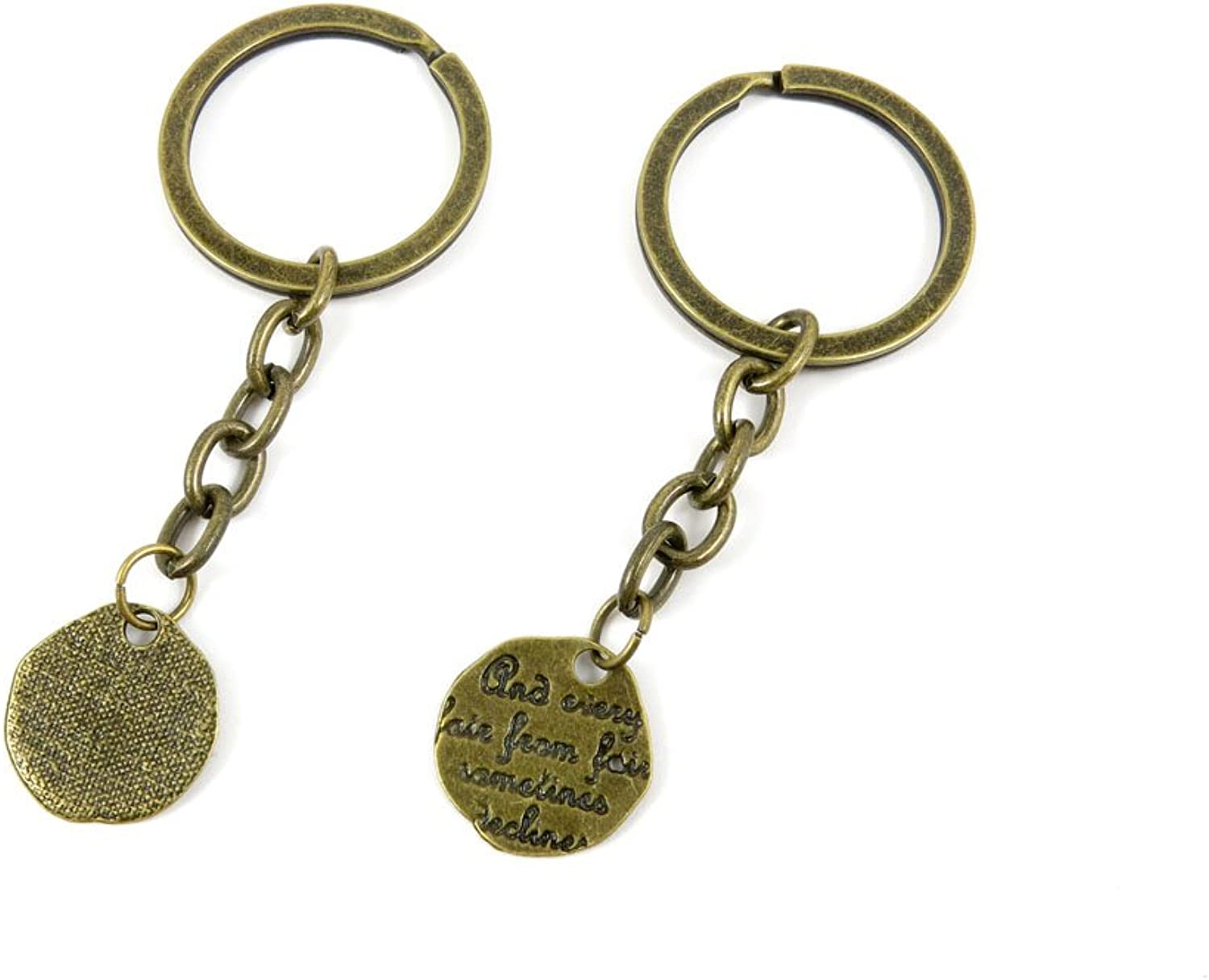 230 Pieces Fashion Jewelry Keyring Keychain Door Car Key Tag Ring Chain Supplier Supply Wholesale Bulk Lots V6YV8 Words Tag Signs