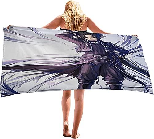Proxiceen Toalla de playa de microfibra para mujer, niños, hombres, niñas, regalos, de Sword Art Online, toalla de playa, secado rápido, sin arena, para exteriores (A4,80 x 160 cm)