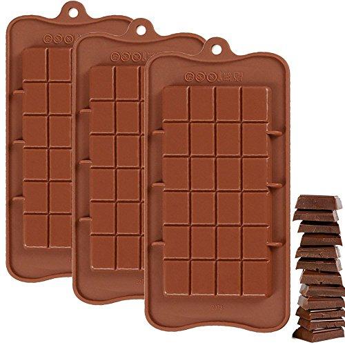IHUIXINHE Silikon Schokoladenform - Silikonform für Schokoladen Herstellen, Party-Schokolade, Kasten, Set of 3