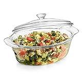 Libbey Baker's Premium Glass Casserole Dish with Cover, 2-quart