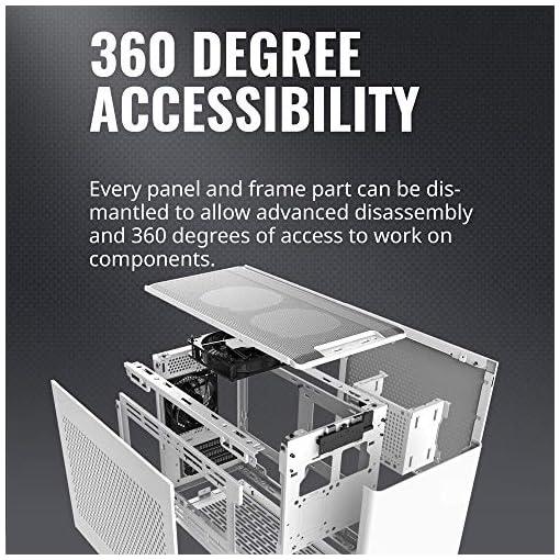 Cooler Master NR200 Caja Mini-ITX de Factor de Forma pequeño SFF Blanco con Panel ventilado, GPU de Triple Ranura, sin… 2