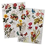 Ideen mit Herz 2 hojas de papel de arroz, papel de decoupage elegante, DIN A4, 2 diseños diferentes, vintage, Navidad, etc. (Nostalgie 05)