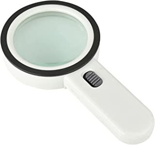 Yorten 30X Handheld Magnifier High Definition with 13X Lights Lamp High Power for Map Reading Jewelry Identification Phone...