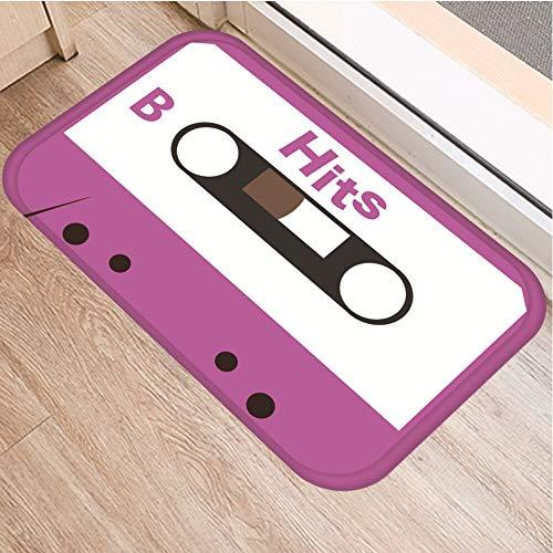 OPLJ Cinta de cassette, alfombra antideslizante para el suelo, alfombra para puerta de baño, cocina, entrada, decoración del hogar, alfombra A22, 40 x 60 cm