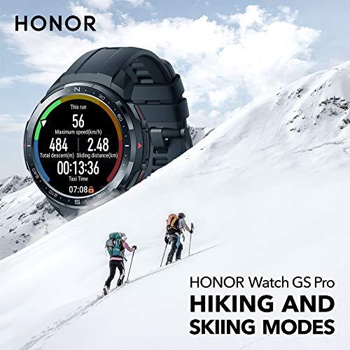 HONOR Watch GS Pro - GPS Multideporte Smartwatch con Cuerpo Resistente y Resistente, 48mm, 25-Día Batería duración, AMOLED de 1,39 Pulgadas, frecuencia cardíaca, IP68 para Hombre Mujer (Negro) miniatura