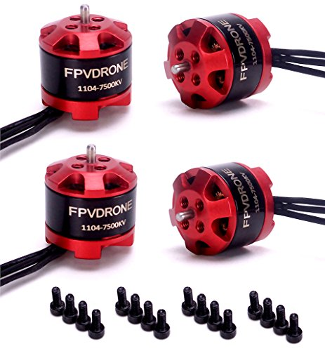 FPVDrone 1104 7500KV Brushless Motors 2-3S for RC 80 90 100mm 120mm Mini Multirotor Drone Quadcopter(4pcs)