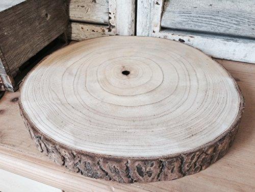 Grande centrotavola in legno naturale con corteccia per matrimoni (XXL 38-47 cm)