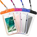 F-color Waterproof Case, 4 Pack Transparent PVC Waterproof Phone Pouch Dry Bag for...