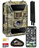 Yellowstone.ai 4G LTE Wireless Cellular Trail Camera for Deer Hunting & Security - Pictures & Videos On Any Phone (Verizon, AT&T, T-Mobile, Sprint & More) - Includes Web App SD Card & Mounting Strap