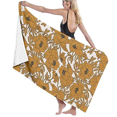 Top-T Indra Poppy - Toalla de baño (130 x 80 cm), color dorado