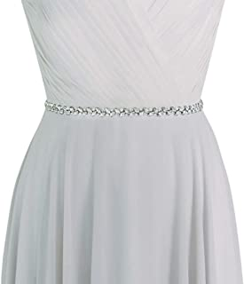 HONGMEI Rhinestone Bridal Belt Crystal Pearl Wedding Belt for Bride Sash Dress