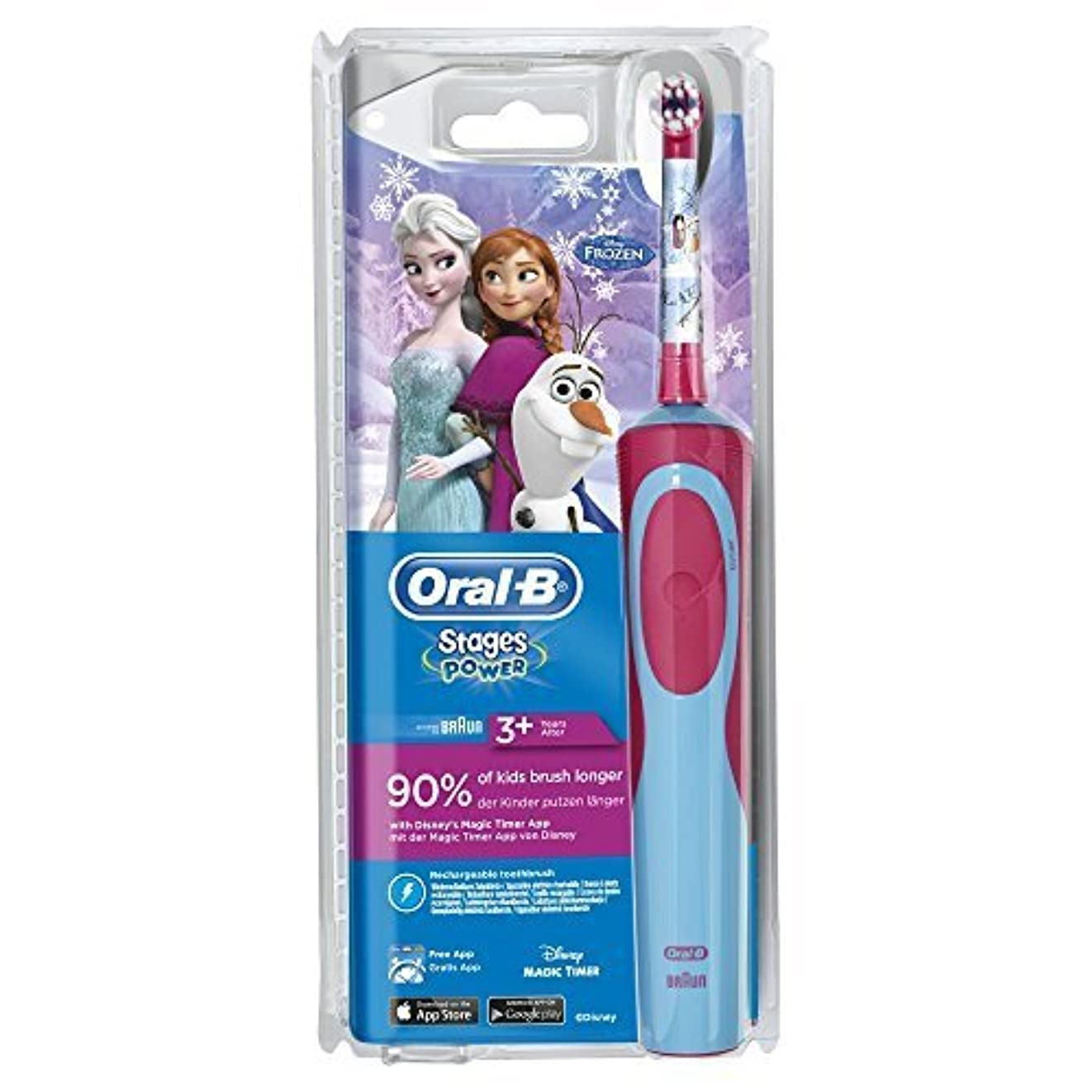 用心深い神聖鳥Oral-B Stages Power Electric Toothbrush for Children 3 Years and + - Model : Frozen by Oral-B [並行輸入品]