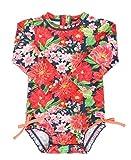 RuffleButts Baby/Toddler Girls Sunset Garden One Piece Rash Guard - 18-24m