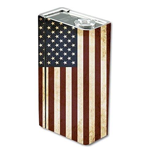 Decal Sticker Skin WRAP American Flag Grunge Vintage for Smok X Cube BT50