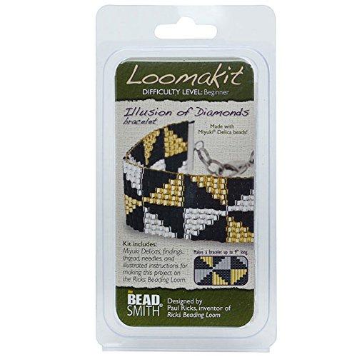 BeadSmith Loomakit Illusion of Diamonds Complete Bracelet Cuff for Rick's Beading Loom
