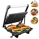 Panini Press Grill 1200W 4-Slice Extra Large Gourmet Sandwich Maker, Non-Stick Coated Plates, Stainless Steel Surface...