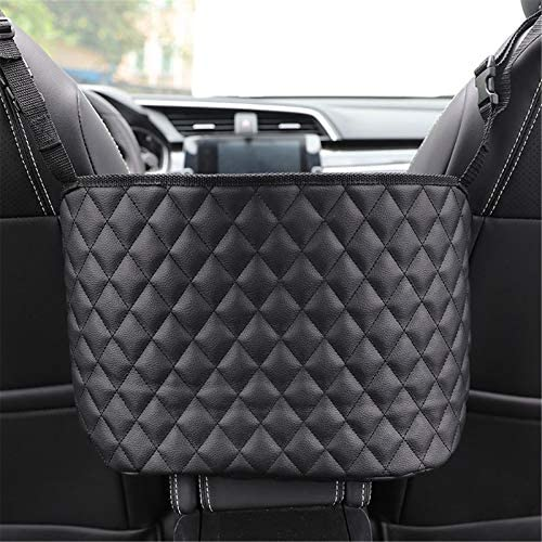 Car Net Pocket Handbag Holder Car Purse Pocket Organizer Between Seats Automotive Consoles With product image