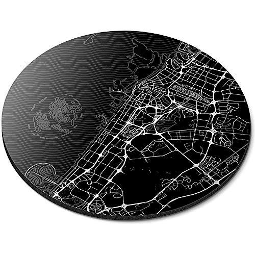 Ronde muismat - Urban City Street Kaart Dubai VAE Office Gift