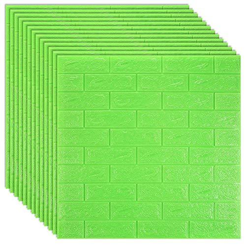 Piedra de Ladrillo Paneles de Pared Autoadhesivos Pegatinas de pared de espuma 3D Ladrillo de imitación Papel pintado autoadhesivo de ladrillo para sala de estar Casa Dormitorio Decoración Cocina TV f