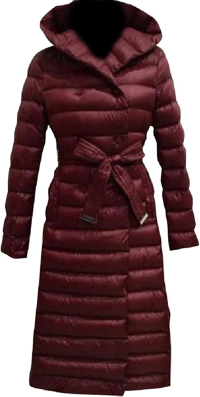 Coolhere Women's Pocket Down Puffer Single Button Warm Parka Jacket Coat