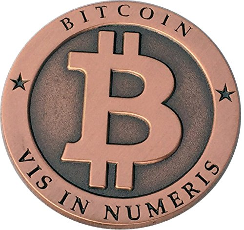 Bitcoin Miner Token Antique Copper Commemorative Souvenir Round by CoinedBits | Limited Edition with Plastic Display Case