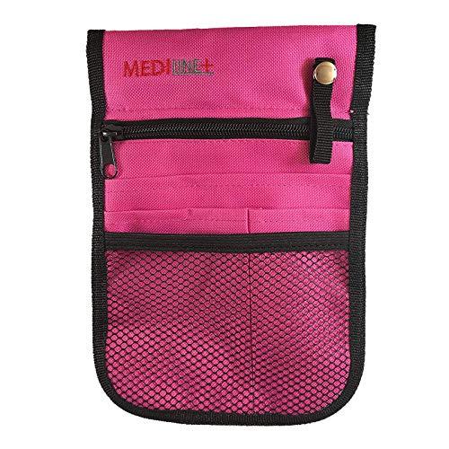 Bolsa para enfermera veterinaria con bolsillo y cinturón ajustable.