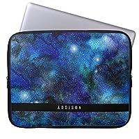 UDDesign青い銀河系はパーソナライズ を主演します 14インチ ノートパソコン ブリーフケース 撥水 14インチラップトップ / ノートブック/ウルトラブック用 PCバッグ