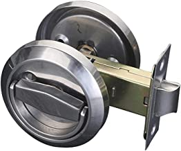 ZLDCTG Hidden Door Locks Stainless Steel Handle Recessed Cabinet Invisible Pull Mechanical Outdoor Lock for Fire Proof Har...
