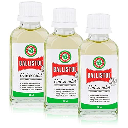 BALLISTOL 3 botellas de cristal de 50 ml, aceite esencial pa