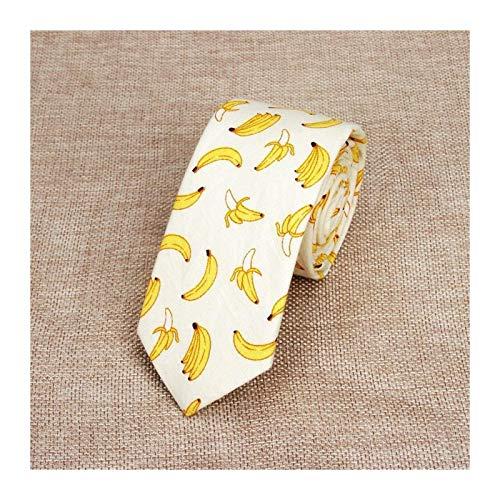 Corbatas Lazos para hombres Algodón colorido lazo de los hombres de plátano Frutas corbatas for hombre Reduzca la corbata flaca delgada Cravate Reduzca gruesas Adultos Mujeres corbatas ( Color : 6 )