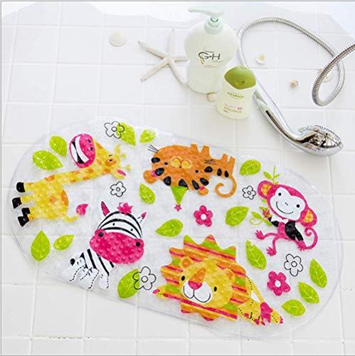 Mayco Bell Alfombrillas de baño y Alfombrilla de Ducha para niños, antibacterianas, sin ftalatos, látex y Lavable a máquina (Animal)